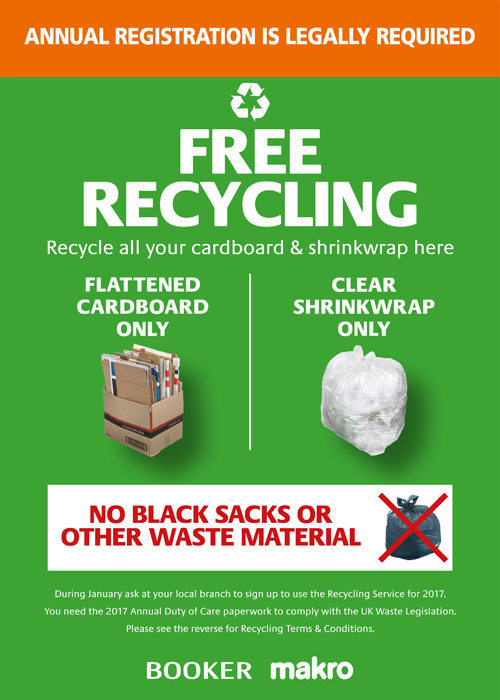Free packaging recycling service
